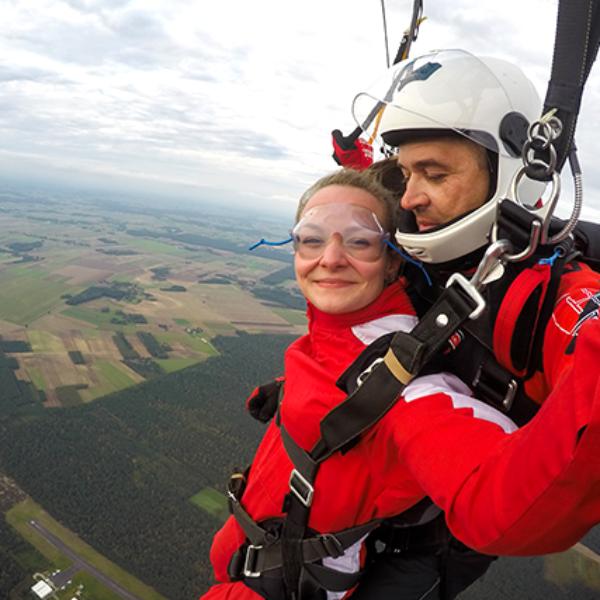 Skok tandemowy Nasze spadochrony